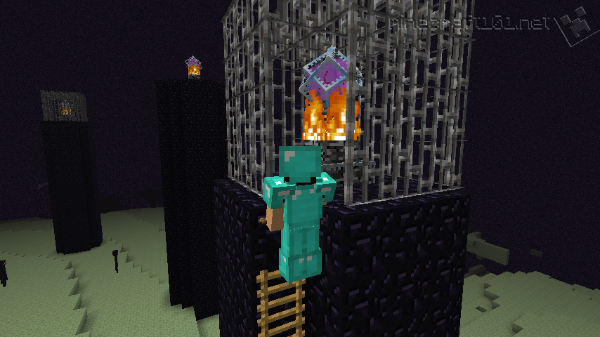 Minecraft the end game minecraft 101 destroy the end crystal in the iron cage sciox Gallery