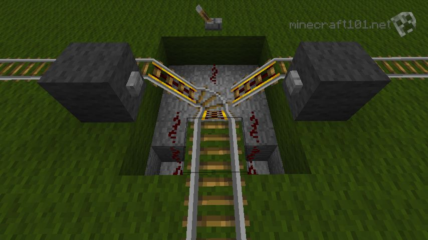 Minecarts And Railways Minecraft 101 - 2 Way Switch Minecraft
