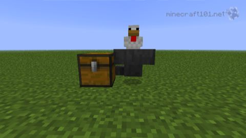 Redstone Moving Items Minecraft 101
