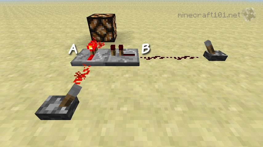 How to make a redstone comparator