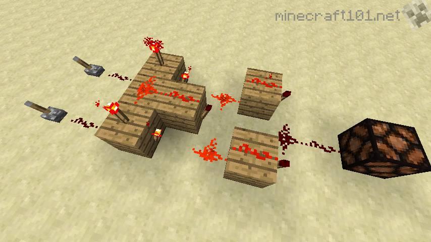 Minecraft Xor Gate