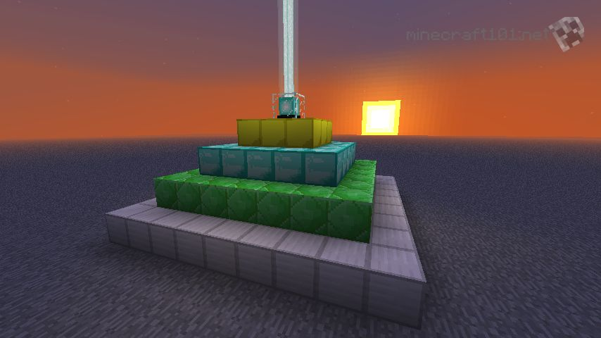 How to make a beacon light up in minecraft pc