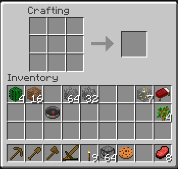 minecraft crafting interface