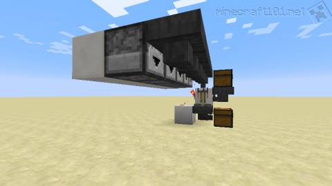 minecraft how to use hoppers and droppers