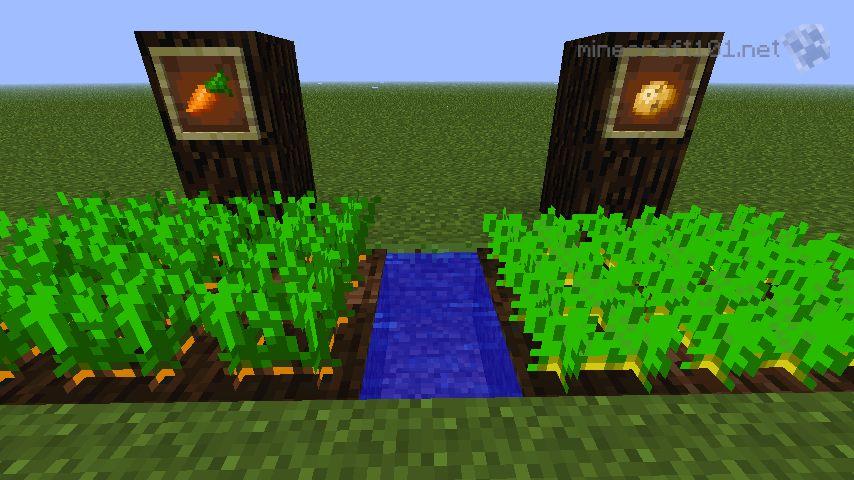 growing crops minecraft 101 - Minecraft Pe Garden Ideas