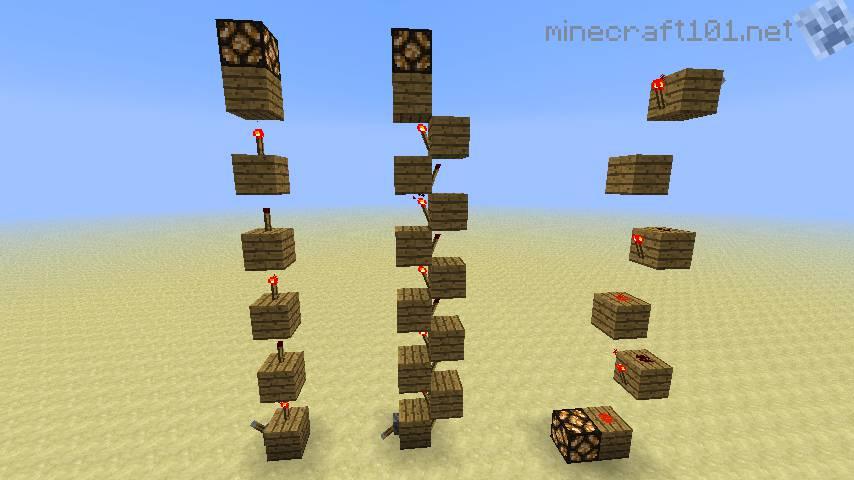 wiring redstone which is better spiral or vertical torch method rh minecraftforum net minecraft redstone vertical wiring down Redstone Wire Recipe